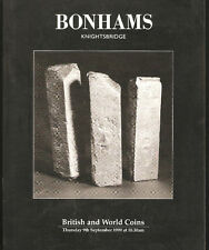 CATALOGO VENDITA ALL'ASTA DI MONETE E MEDAGLIE - BONHAMS BRITISH AND WORLD COINS