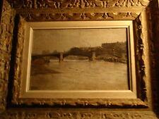 GAUDEFROY ALPHONSE 1882 PEINTURE SCENE DE PARIS + CADRE MONTPARNASSE