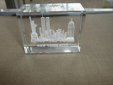 paper crystal statue of liberty twin towers empire state building