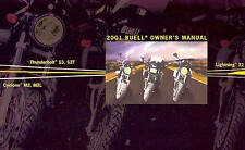 2001 BUELL LIGHTNING THUNDERBOLT CYCLONE MOTORCYCLE OWNERS MANUAL -BUELL-BUELL