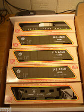 HO  IHC US ARMY TRAIN SET US ARMY 3 BOX CARS & CABOOSE  3 ROAD # BBM-1006 USA