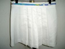 Women's Tail Pleated Wrap Tennis Skirt w/Fabric Ribbon Waist Accent Sz 8-10 !