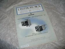 RIVISTA L'ELETTROTECNICA AEI N.8 4/1940 COPER.SIEMENS INTERRUTTORI AUTOMATICI KL
