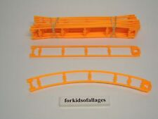 """19 White GLOW IN THE DARK 8/"""" Straight Coaster Parts//Pieces Micro Knex Track Lot"""