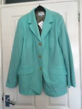 Women's new, mint coloured, lined, classic blazer by Gray and Osbourn, size 20