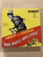 "Vintage ABBOTT & COSTELLO ""Have Badge Will Chase"" 8mm Film Reel"