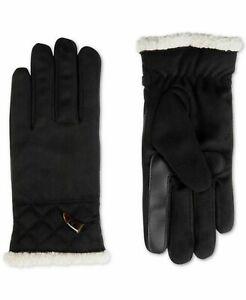 ISOTONER Women's smartDRI Microsuede Touchscreen Gloves NWOT Black S/M