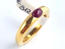 Ring Damen Bandring Solitärring Rubin Edelstein – 750 Gold Gelbgold - #31**