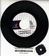 """""""WEIRD AL"""" YANKOVIC  Another One Rides The Bus 7"""" 45 record + juke box strip NEW"""