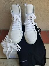 KRIS VAN ASSCHE ZIP BACK WHITE LEATHER HIGH TOP SNEAKERS SHOES 41 8  KVA $700