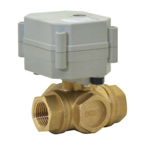 DN15 Three Way 1/2 Inch AC/DC9-24V Brass Motorized Ball Valve With instructions