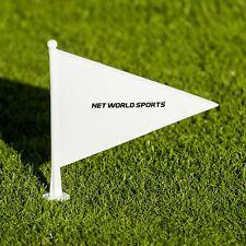 White Cricket Boundary Marker Flags - 10 Pack Net World Sports