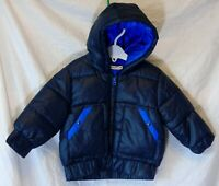 Baby Boys Billy Bandit Navy Blue Robot Print Padded Puffa Coat Age 12-18 Months