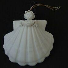 New listing 1995 Margaret Furlong Bisque Porcelain Shell 'Flower Garland Angel' Ornament