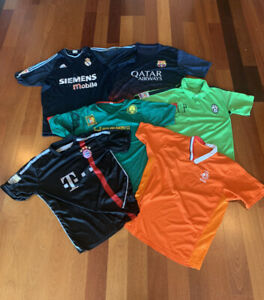 Vintage Soccer Jersey Lot of 6 International National Team Football Club