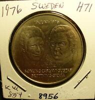 Silver Sweden 50 Kronor Unc Coin