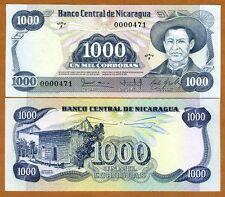 Nicaragua, 1000 cordobas, L. 1984, P-143, Low S/Ns, UNC > Rare in UNC