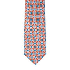 Borrelli Napoli Hand Made 100% Silk Orange Neck Tie New With Tags BT131