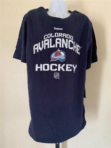 New Colorado Avalanche Youth Size M Medium Blue Reebok Shirt
