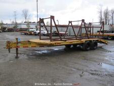 Eager Beaver B8D0W 24' Equipment Flatbed Trailer 10-Ton Reel Stand Rack bidadoo