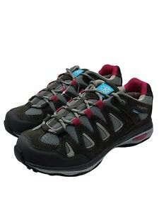 Karrimor isla ladies weathertite hiking shoes black pink size 7 uk new.