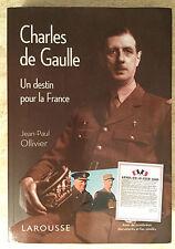 """Exonération Pierre Brice: DE GAULLE """"un destin"""", de sa collection! nachlaßstempel"""