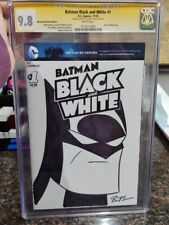 DC Comics Batman Black and White #1 CGC 9.8 Signed Sketched by Bruce Timm Art