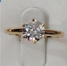 Ring size M 9ct Gold GF Diamond Solitaire Gift Promise Engagement holiday