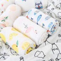 Baby Muslin Swaddles  Newborn Bedding Washable Reusable Breastfeeding Blankets