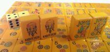 Mahjong Set Butterscotch Bakelite Catalin 152 Tiles Antique Case Joker Kibitzer