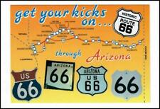 Vintage 4 X 6 Post Card, GET YOUR KICKS ON...  Route 66   #E069