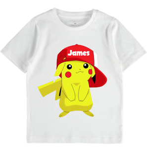 Pikachu Pokemon clothes tshirt top tee kids boys girls clothes baby cute sale