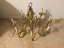Vintage Antique Solid Brass Made in Spain Candle Chandelier Lighting Lamp Rare
