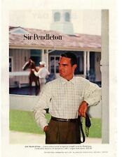 1957 Sir Pendleton 100% Virgin Wool Shirts Horse Stables Porland Oregon Print Ad