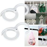 2pcs Plastic S Shaped Hooks Latch Hanging Towel Slipper Hat Clothes For Kitchen