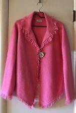 "Womens Jacket Beautiful Pink Fringed Longsleeve ""J' envie New York SZ Medium"