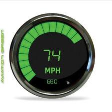 "Intellitronix Digital/Bargraph Memory Speedometer 3 3/8"" Green Chrome W/ Sender"
