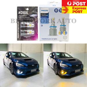 KONIK P13W DRL + Philips H8 WHITE & YELLOW Dual Colour Switchback LED Fog Light