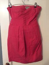 Brand New Asos Pink Dress Sz US 4, UK 8, EU 36. Strapless Open Back Above Knee