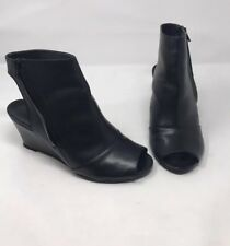Surface to air Kim Open To Wedge Boots Sz 40 Black Leather