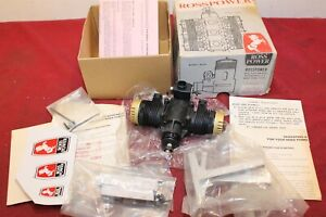 NEW ROSS 60 OPPOSED TWIN R/C MODEL AIRPLANE ENGINE .60 10cc BLACK KNIGHT GOLD