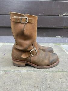 Red Wing Heritage Engineer Boot. Style #8178. Roughout Leather, Hawthorn.
