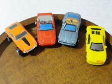 "lot of 4 mini micro toy cars* 1"" length*plastic *cake decoration*train display*"