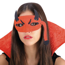 Loup diable rouge avec corne et queue sur le masque [1622] halloween deguisement