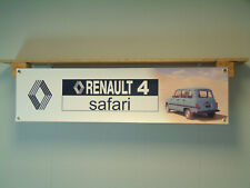 Renault 4 Safari Banner Classic Car Show Garage Workshop pvc sign poster