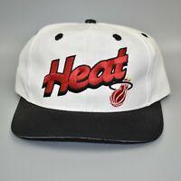 Miami Heat NBA Logo 7 Script Vintage 90's Twill Snapback Cap Hat