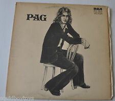 MICHEL PAGLIARO: PAG LP Record French Rock Quebec