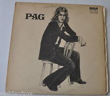 MICHEL PAGLIARO: PAG LP Record French Rock Quebec