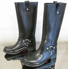 KORS MICHAEL KORS Black Tall Rubber Rain Boots w/ Silver Harness Detail - Size 9