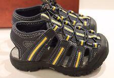 Arizona Lil Stan Navy Blue & Yellow Boys' Sport Strap Sandals Big Kids Size 6 M